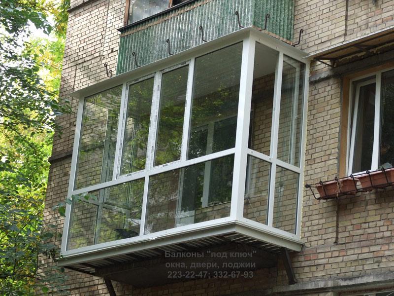Сколько стоит застеклить балкон алюминиевым профилем в хруще.